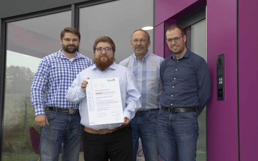 narz systems ISO 27001 zertifiziert: Alles für den sicheren Netzbetrieb