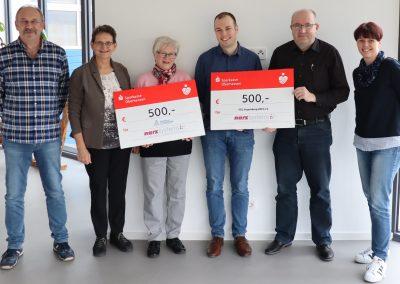 Foto von Links: Wilfried Narz, Hildegard Schwarz, Hildegard Weber, Sebastian Narz, Simon Ruhl, Birgit Pfohl